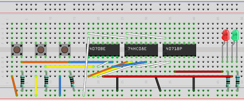 Full Adder breadboard