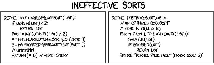 Ineffective Sorts