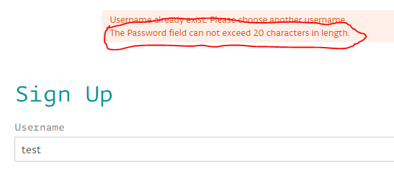 Limiting password length to 20 chars? Why you no hash?